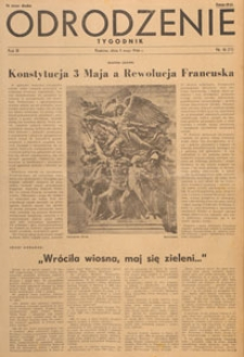 Odrodzenie : tygodnik, 1946.05.12 nr 19