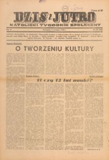 Dziś i Jutro : katolicki tygodnik społeczny, 1948.09.19 nr 38