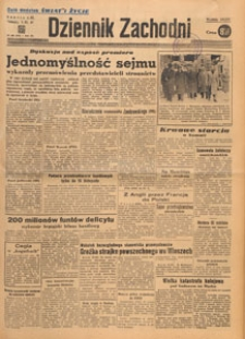 Dziennik Zachodni, 1947.11.20 nr 318
