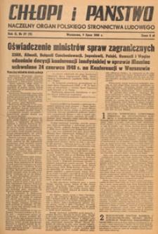 Chłopi i Państwo : tygodnik społeczno-polityczny, 1948.07.18 nr 29