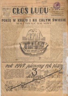 Głos Ludu : pismo codzienne Polskiej Partii Robotniczej, 1947.01.20 nr 18