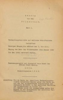 Danzig vor dem Völkerbund, 1922 Bd. 1