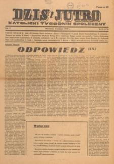 Dziś i Jutro : katolicki tygodnik społeczny, 1949.04.10 nr 14