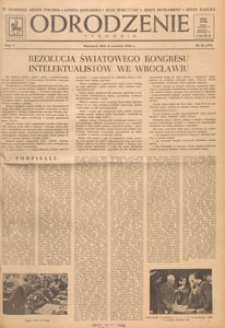 Odrodzenie : tygodnik, 1948.09.26 nr 39