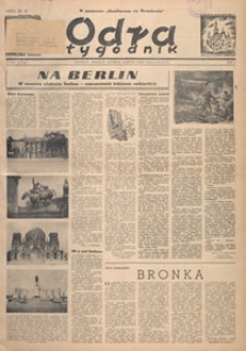 Odra : tygodnik, 1949.05.07 nr 16