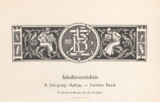 Zeitschrift für Bücherfreunde : Monatshefte für Bibliophilie und verwandte Interessen, 1898/1899 Bd. 2, Inhaltverzeichnis