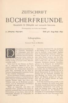 Zeitschrift für Bücherfreunde : Monatshefte für Bibliophilie und verwandte Interessen, 1899/1900 Bd. 1 H. 5/6