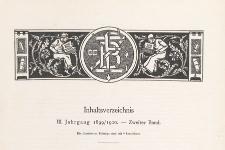Zeitschrift für Bücherfreunde : Monatshefte für Bibliophilie und verwandte Interessen, 1899/1900 Bd. 2, Inhaltverzeichnis