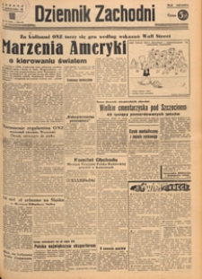 Dziennik Zachodni, 1948.10.31 nr 303