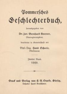 Pommersches Geschlechterbuch. Bd. 2