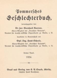 Pommersches Geschlechterbuch. Bd. 3