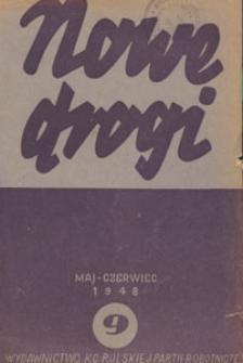 Nowe Drogi : czasopismo społeczno-polityczne, 1948.05-06 nr 9