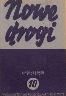 Nowe Drogi : czasopismo społeczno-polityczne, 1948.07-08 nr 10