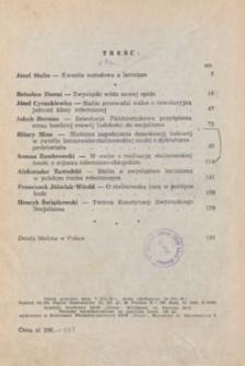 Nowe Drogi : czasopismo społeczno-polityczne, 1949, treść rocznika
