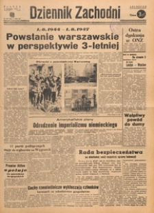 Dziennik Zachodni, 1947.08.07 nr 214