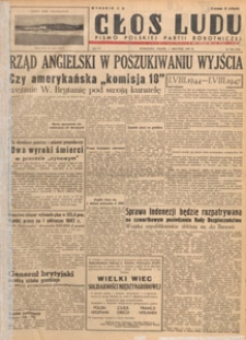 Głos Ludu : pismo codzienne Polskiej Partii Robotniczej, 1947.08.13 nr 221