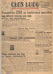 Głos Ludu : pismo codzienne Polskiej Partii Robotniczej, 1947.07.10 nr 187