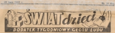 Świat Dzieci. Dodatek tygodniowy Głosu Ludu, 1947.07.29 nr 31