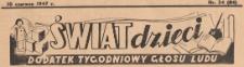 Świat Dzieci. Dodatek tygodniowy Głosu Ludu, 1947.06.10 nr 24