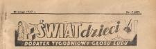 Świat Dzieci. Dodatek tygodniowy Głosu Ludu, 1947.02.10 nr 07
