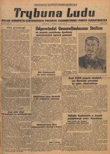 Trybuna Ludu : organ Komitetu Centralnego Polskiej Zjednoczonej Partii Robotniczej, 1949.02.20 nr 49