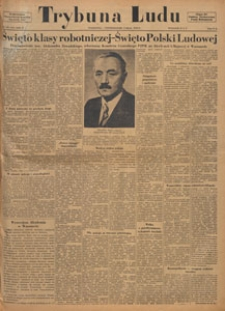 Trybuna Ludu : organ Komitetu Centralnego Polskiej Zjednoczonej Partii Robotniczej, 1949.05.09 nr 126