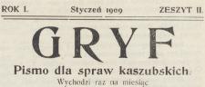 Gryf : pismo dla spraw kaszubskich, 1909.01 z. 2