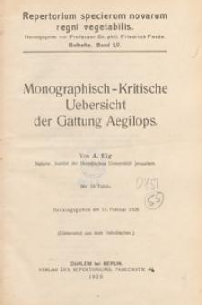 Repertorium Specierum Novarum Regni Vegetabilis : Beihefte, 1929 Bd 55