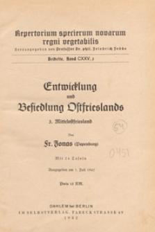 Repertorium Specierum Novarum Regni Vegetabilis : Beihefte, 1942 Bd 125 H. 3