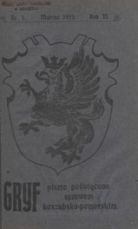 Gryf : pismo poświęcone sprawom kaszubsko-pomorskim, 1922.03 nr 3