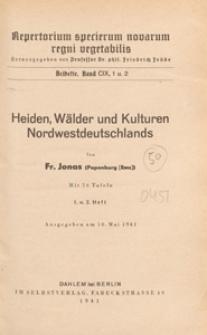 Repertorium Specierum Novarum Regni Vegetabilis : Beihefte, 1941 Bd 109 H. 1 u. 2