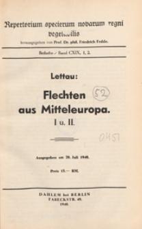 Repertorium Specierum Novarum Regni Vegetabilis : Beihefte, 1940 Bd 119 H. 1, 2