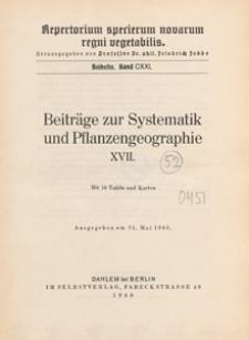 Repertorium Specierum Novarum Regni Vegetabilis : Beihefte, 1940 Bd 121