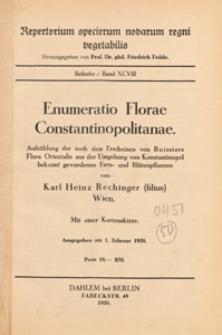 Repertorium Specierum Novarum Regni Vegetabilis : Beihefte, 1938 Bd 98