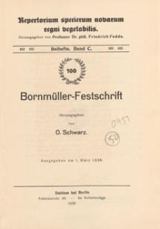 Repertorium Specierum Novarum Regni Vegetabilis : Beihefte, 1938 Bd 100
