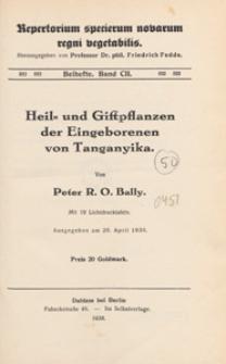 Repertorium Specierum Novarum Regni Vegetabilis : Beihefte, 1938 Bd 102