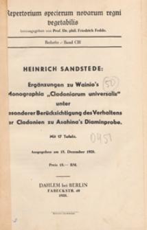 Repertorium Specierum Novarum Regni Vegetabilis : Beihefte, 1938 Bd 103