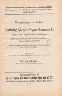 Repertorium Specierum Novarum Regni Vegetabilis : Beihefte, 1938 Bd 106