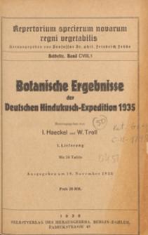 Repertorium Specierum Novarum Regni Vegetabilis : Beihefte, 1938 Bd 108 H. 1