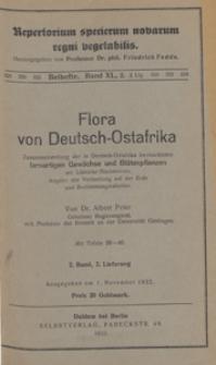Repertorium Specierum Novarum Regni Vegetabilis : Beihefte, 1932 Bd 40 H. 2
