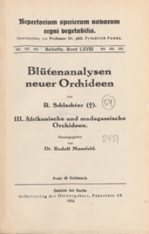 Repertorium Specierum Novarum Regni Vegetabilis : Beihefte, 1932 Bd 68