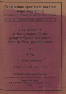 Repertorium Specierum Novarum Regni Vegetabilis : Beihefte, 1932 Bd 63 H. 2