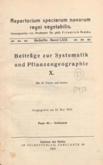 Repertorium Specierum Novarum Regni Vegetabilis : Beihefte, 1933 Bd 71