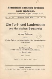 Repertorium Specierum Novarum Regni Vegetabilis : Beihefte, 1936 Bd 92