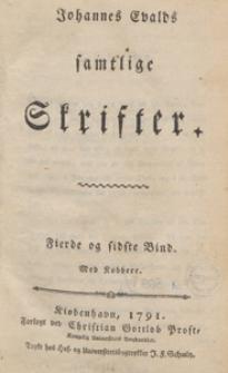 Johannes Evalds samtlige Skrifter. Bd. 4