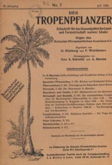 Der Tropenpflanzer : Zeitschrift für das gesamgebiet der Land und Forstwirtschaft warmer Länder : Organ des Kolonial-wirtschaftlichen Komitees, 1936.07 nr 7