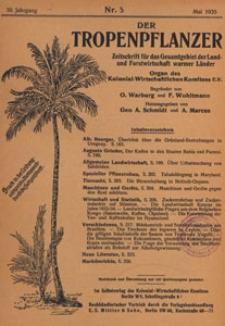 Der Tropenpflanzer : Zeitschrift für das gesamgebiet der Land und Forstwirtschaft warmer Länder : Organ des Kolonial-wirtschaftlichen Komitees, 1935.05 nr 5