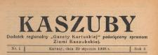 """Kaszuby : dodatek regjonalny """"Gazety Kartuskiej"""" poświęcony sprawom Ziemi Kaszubskiej, 1938.01.29 nr 1"""