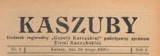 """Kaszuby : dodatek regjonalny """"Gazety Kartuskiej"""" poświęcony sprawom Ziemi Kaszubskiej, 1938.02.26 nr 2"""