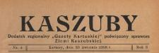 """Kaszuby : dodatek regjonalny """"Gazety Kartuskiej"""" poświęcony sprawom Ziemi Kaszubskiej, 1938.04.23 nr 4"""